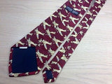 STEVEN HARRIS Handmade Polyester Tie - Maroon with Aviation Pattern 37