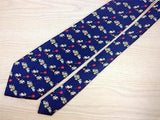 Novelty TIE Bunny Happy Birthday Balloon Made Italy Repeat Silk Necktie 4