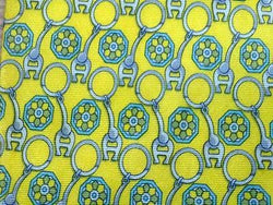 Geometric TIE Aigner Logo Chain Link Yellow Silk Men Necktie 23