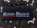 Rosso Bianco TIE Dog Plaid Shadow Theme Repeat Novelty Silk Necktie 19