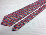 Novelty Tie Aquascutum Anchors And Flags On Pink Silk Men Necktie 43