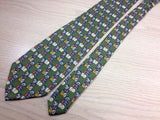 Gentleman's Silk Tie -Olive Green with Charming Panda Dice Pattern 35