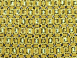 Designer Tie Geometric Scherrer Square in Circles on Yellow Silk Men NeckTie 30