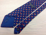 Animal Tie Pierre Lorrain Dolphin Pattern On Dark Blue Silk Men Necktie 29