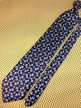 CATFISH on Navy Blue TIE Repeat Animal Novelty Silk Men Necktie 11