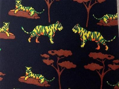 Green & Yellow Cheetah TIE Savane Animal Novelty Theme Repeat Silk Necktie 2
