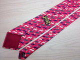 Animal Print TIE  Bunny & Floral on Pink   Silk Men Necktie 25