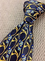 Brooksfield Floral TIE Woven Repeat Silk Men Necktie 18