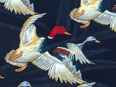 Animal Tie Mallard Duck Bird Hunting Polyester Men Necktie 28