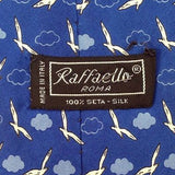 Raffaello Birds Wings Sky Clouds Fun Novelty Theme Italy 100% Silk men necktie
