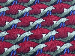 Animal Tie The Nature Conservatory Dolphins On Red Silk Men Necktie 31