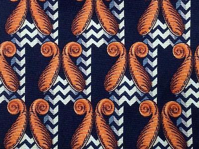 Geometric TIE Navy & Navy  Silk Men Necktie 23