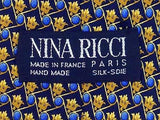 LUXURY TIE NINA RICCI Geometric Flame Made in France Necktie 7
