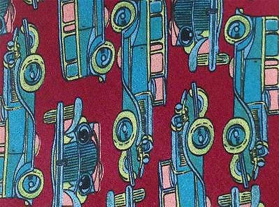 Massimo Vito TIE Old Car Vintage Theme Repeat Silk Necktie 3
