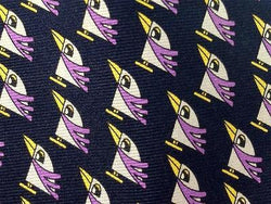 Novelty Tie Cool Happy Penguin Repeat Silk Necktie 19