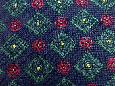 Novelty Tie Trussardi Action Box and Circle on Blue Silk Men Necktie 45