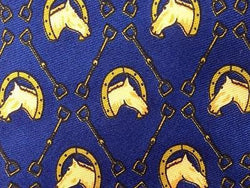Horse Heads Dot TIE Small Repeat Animal Novelty Silk Men Necktie 18