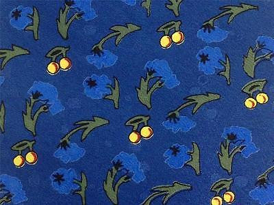 Blueberry 7 Citrus TIE on Blue Novelty Repeat Silk Necktie 20