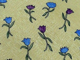 CELEB Silk Tie - Designed by Susan Sullivan - Gold with Tulips 37