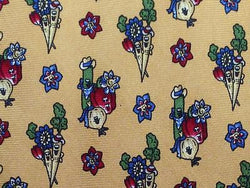 Novelty TIE Vegetable Familly Mexico Desert  Made in ITALY Silk Necktie 9