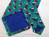 Animal Print TIE  Hummingbird Green CABOUCHON  Silk Men Necktie 8