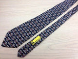 Designer Tie Moreschi Handcuff Style on Blue Silk Men NeckTie 30