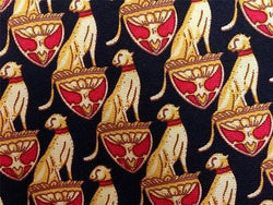 Golden Panthers on Pedestal TIE Repeat Animal Novelty Silk Men Necktie 18