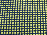 Designer Tie Trussardi Yellow Dots on Blue Silk Men NeckTie 49