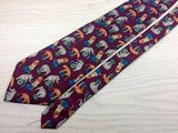 Animal Tie 417 Circus Animals On Burgundy Silk Men Necktie 31