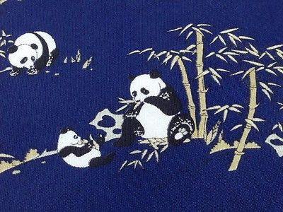 Animal Tie Panda & Tree Blue Silk Men Necktie 28