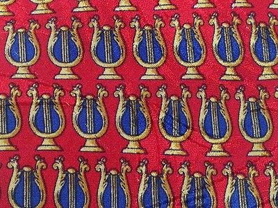 GIVENCHY Paris Silk Tie - Red with Lutes Pattern 37