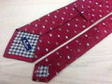 Animal Tie Aquascutum Tutle on Dark Pink Silk Men NeckTie 49