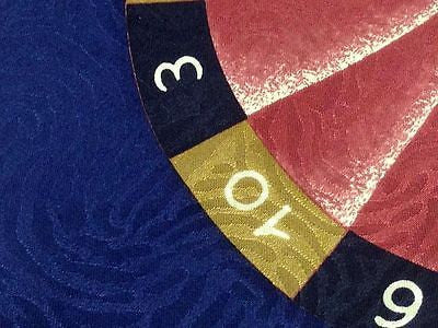 FERRE Italian Silk Tie - Navy with Melon Roulette Wheel 33