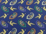 Animal Tie MONDIAL SETA Flying Bird Design Navy Blue Silk Men Necktie 48