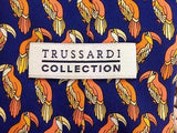 Trussardi TIE Parrot Exotic Bird Animal Repeat Novelty Silk Men Necktie 17