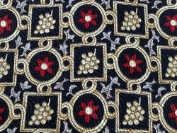 NORDSTROM ROBERT TALBOTT Studio Silk Tie - Black with Gold & Red pattern  35