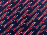 Novelty Tie Beaufort Red Planes On Black Silk Men Necktie 31
