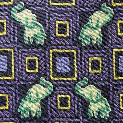 ELEPHANT CHECKER ANIMAL NOVELTY REPEAT SILK MEN NECK TIE 16