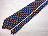 Geometric TIE Pierre Cardin Diamond on Blue Necktie 8