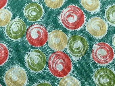 Designer Tie Madein schontess Red-Yellow-Green Ball on Green Silk Men Necktie 47