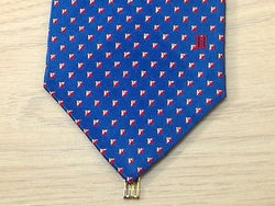 Geometric TIE Diamond Jewel Blue Silk Men Necktie 23