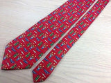 ARTEMIO ITALIANI Italian Silk Tie - Red with Teddy Bear Playtime Design 27