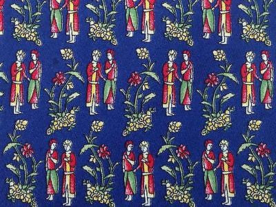 Novelty TIE King Court Couple Floral Flower Made in ITALY Silk Necktie 10