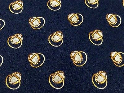 LUCA FRANZINI Italian Silk Tie - Black with Gold Rings Pattern 41