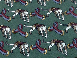 Animal Tie SETA Royal Leopard on Pine Green Silk Men Necktie 48