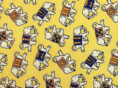 Falling Elephant on Yellow TIE Repeat Animal Novelty Silk Men Necktie 11