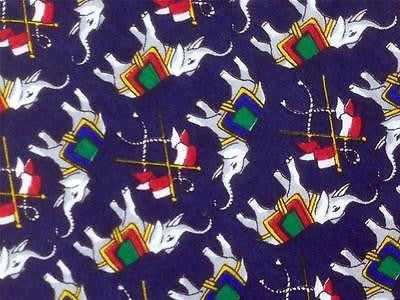 Elephant & Flag TIE Animal Novelty Theme Repeat Silk Necktie 2