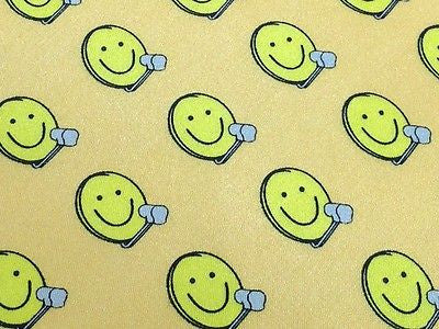 Novelty Tie Technisat Smiley Faces On Yellow Silk Men Necktie 29