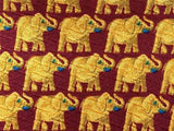Golden Elephant Print TIE Repeat Animal Novelty Silk Men Necktie 17