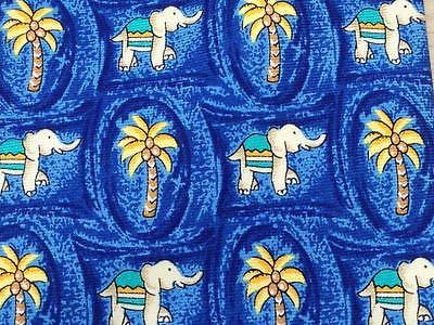 Animal Print Tie Elephant Palmer Vendome Paris Blue Silk Men Necktie 24